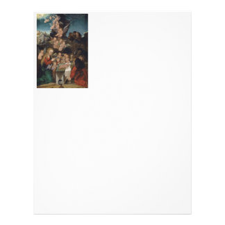 Nativity Featuring Cherubs Letterhead