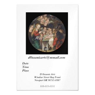 Nativity Featuring Cherubs Magnetic Invitations
