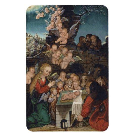 Nativity Featuring Cherubs Rectangular Photo Magnet