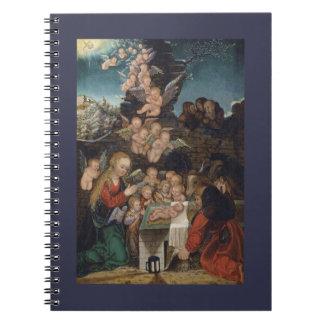 Nativity Featuring Cherubs Spiral Notebook