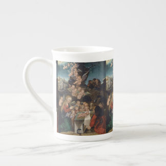 Nativity Featuring Cherubs Tea Cup