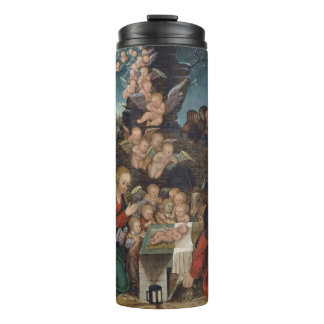 Nativity Featuring Cherubs Thermal Tumbler