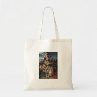 Nativity Featuring Cherubs Tote Bag