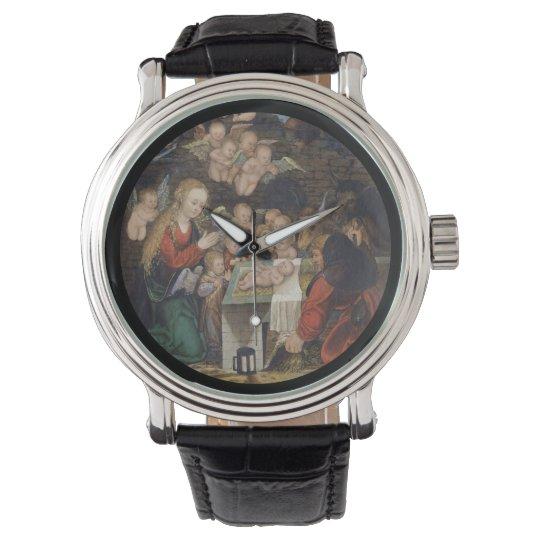 Nativity Featuring Cherubs Watch