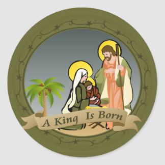 Nativity (Green) | Christmas Stickers