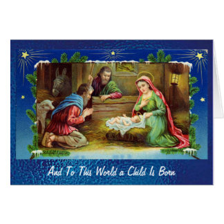 Nativity in Stained Glass Card