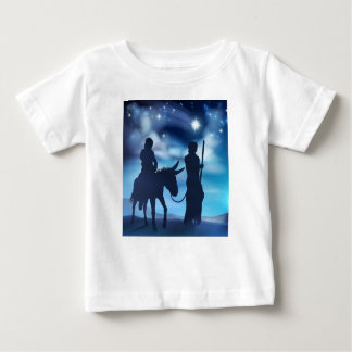 Nativity Mary and Joseph Christmas Illustration Baby T-Shirt