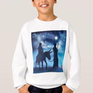Nativity Mary and Joseph Christmas Illustration Sweatshirt