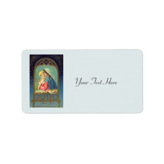Nativity Mary Holding The Baby Jesus Address Label