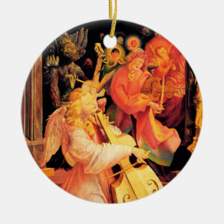 NATIVITY,MUSIC MAKING ANGELS - MAGIC OF CHRISTMAS CERAMIC ORNAMENT