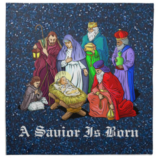 nativity napkins