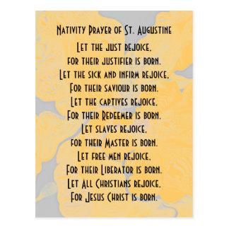 Nativity Prayer of St. Augustine Postcard