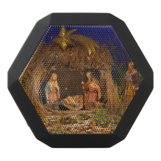 Nativity scene black bluetooth speaker