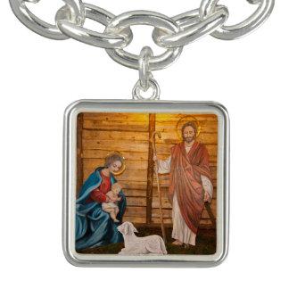 Nativity scene charm bracelets