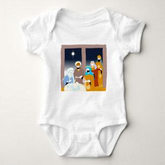 Nativity scene Christian artwork Baby Bodysuit