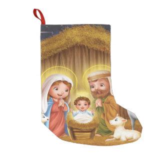 Nativity Scene Christmas Stocking