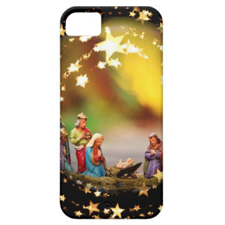 Nativity Scene Crib Virgin Mary Infant Jesus Stars iPhone 5 Cover