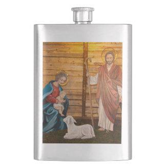 Nativity scene flasks