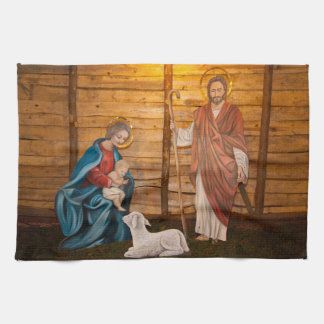 Nativity scene kitchen towel