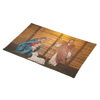 Nativity scene placemat