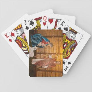 Nativity scene playing cards