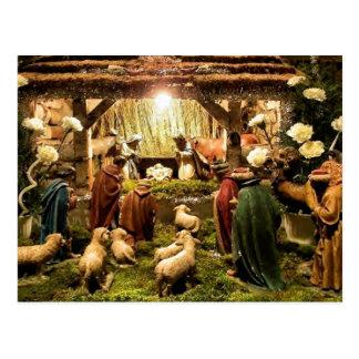nativity scene postcard