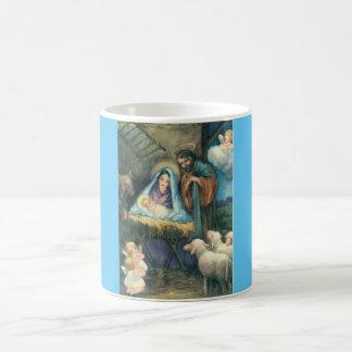 Nativity Scene Vintage Christmas Mug