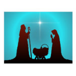 NATIVITY SILHOUETTE & STAR by SHARON SHARPE Postcard