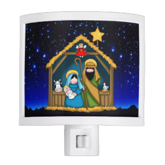 nativity stable scene night light
