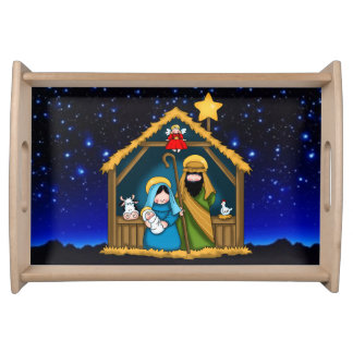 nativity stable scene serving tray