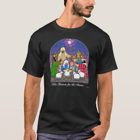 NATIVITY STAINED GLASS T-Shirt