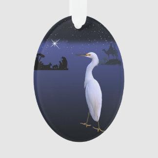 Nativity, Wise Men,  and Egret Bird
