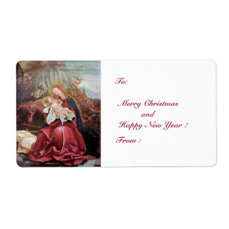 NATIVITY WITH ANGELS - MAGIC OF CHRISTMAS SHIPPING LABEL