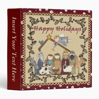 Nativity Xmas Avery Binder