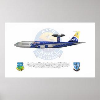 NATO E-3A, 25th Anniversary Markings Poster