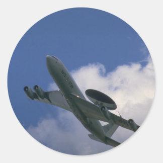 NATO E-3A Sentry AWACS aircraft Classic Round Sticker