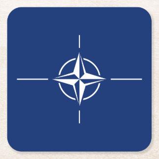 NATO Flag Square Paper Coaster