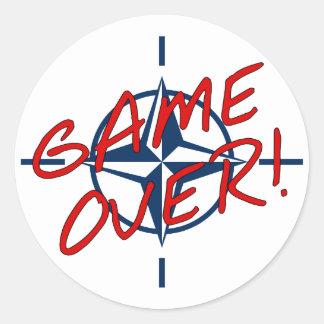 NATO Game Over - stop war Round Sticker