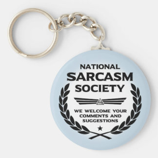 Natsarcsoc - Comments Basic Round Button Keychain