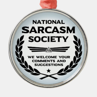 Natsarcsoc - Comments Silver-Colored Round Ornament