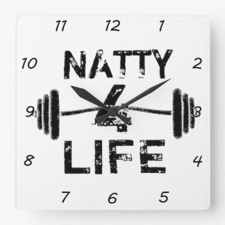 Natty 4 Life Square Wall Clock