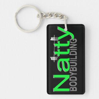Natty Bodybuilding Double-Sided Rectangular Acrylic Keychain