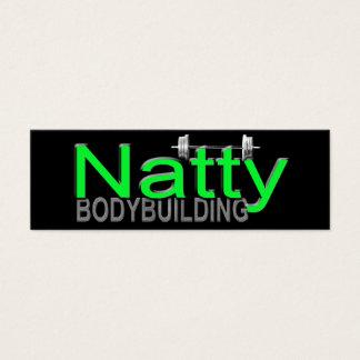 Natty Bodybuilding Mini Business Card
