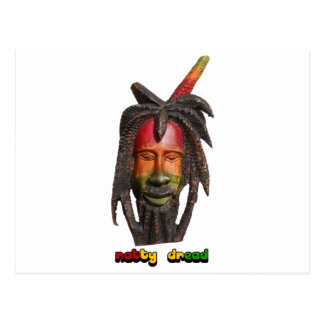 Natty Dread Rastaman With Dreadlocks Postcard