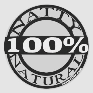 Natty Natural Classic Round Sticker