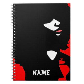 Natural afro chick illustration spiral notebook