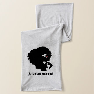 Natural afro hair chick illustration scarf