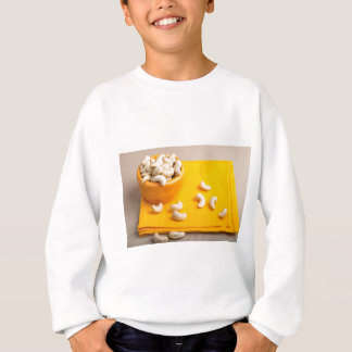 Natural and healthy cashew nuts for raw foodists sweatshirt