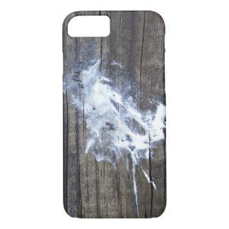 Natural Art Bird Poop Droppings on Wood iPhone 8/7 Case