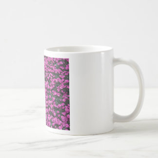 Natural background of purple carnation flowers coffee mug